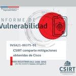 Image for the Tweet beginning: 9VSA21-00375-01 #CSIRT comparte mitigaciones obtenidas