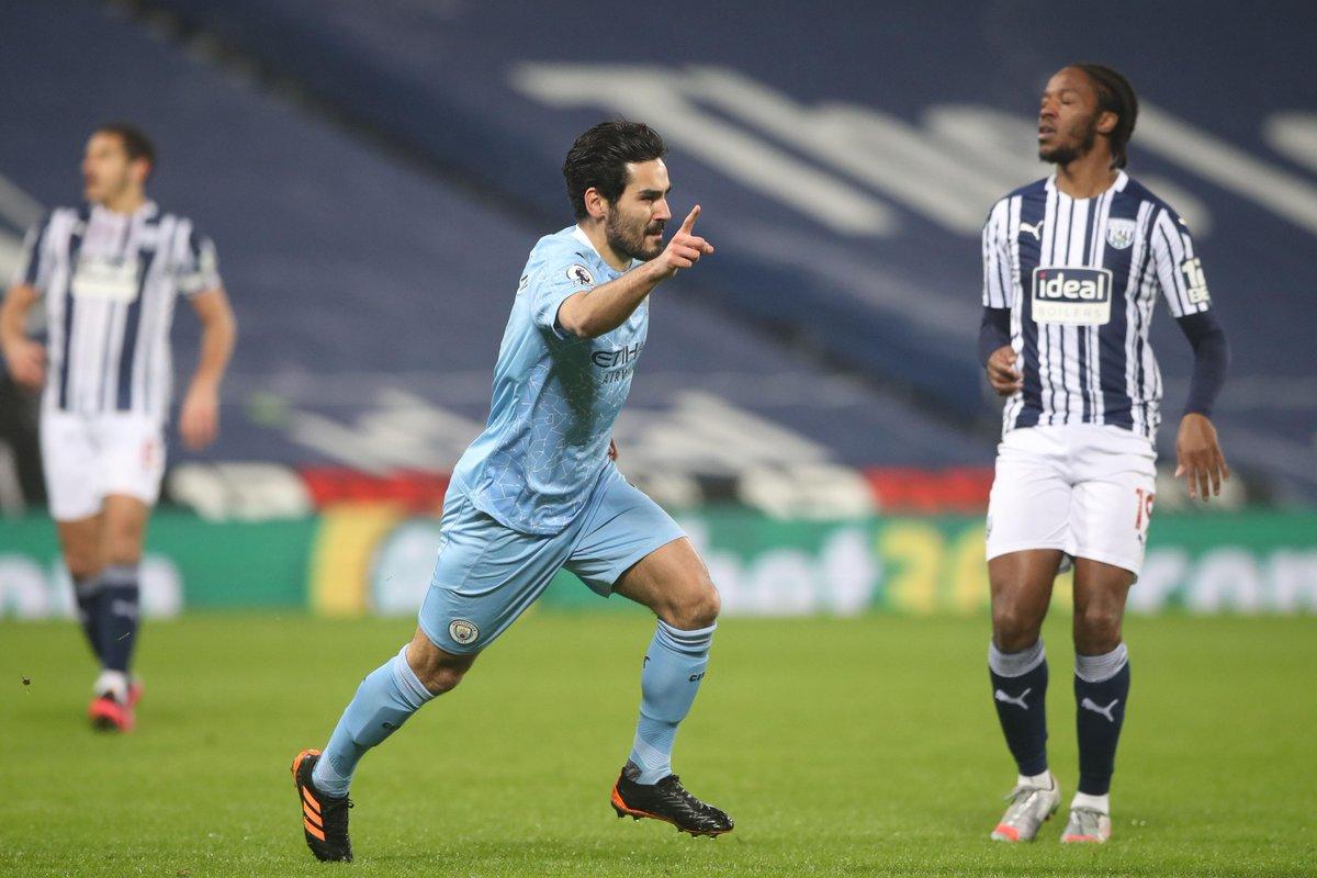 6️⃣ goals in 8️⃣ #PL appearances for @IlkayGuendogan 👏  #WBAMCI