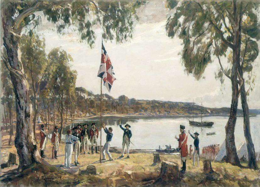 #OTD in 1788, Arthur Phillip and the British First Fleet established Sydney. This marked the first permanent European settlement in Australia. #AustraliaDay