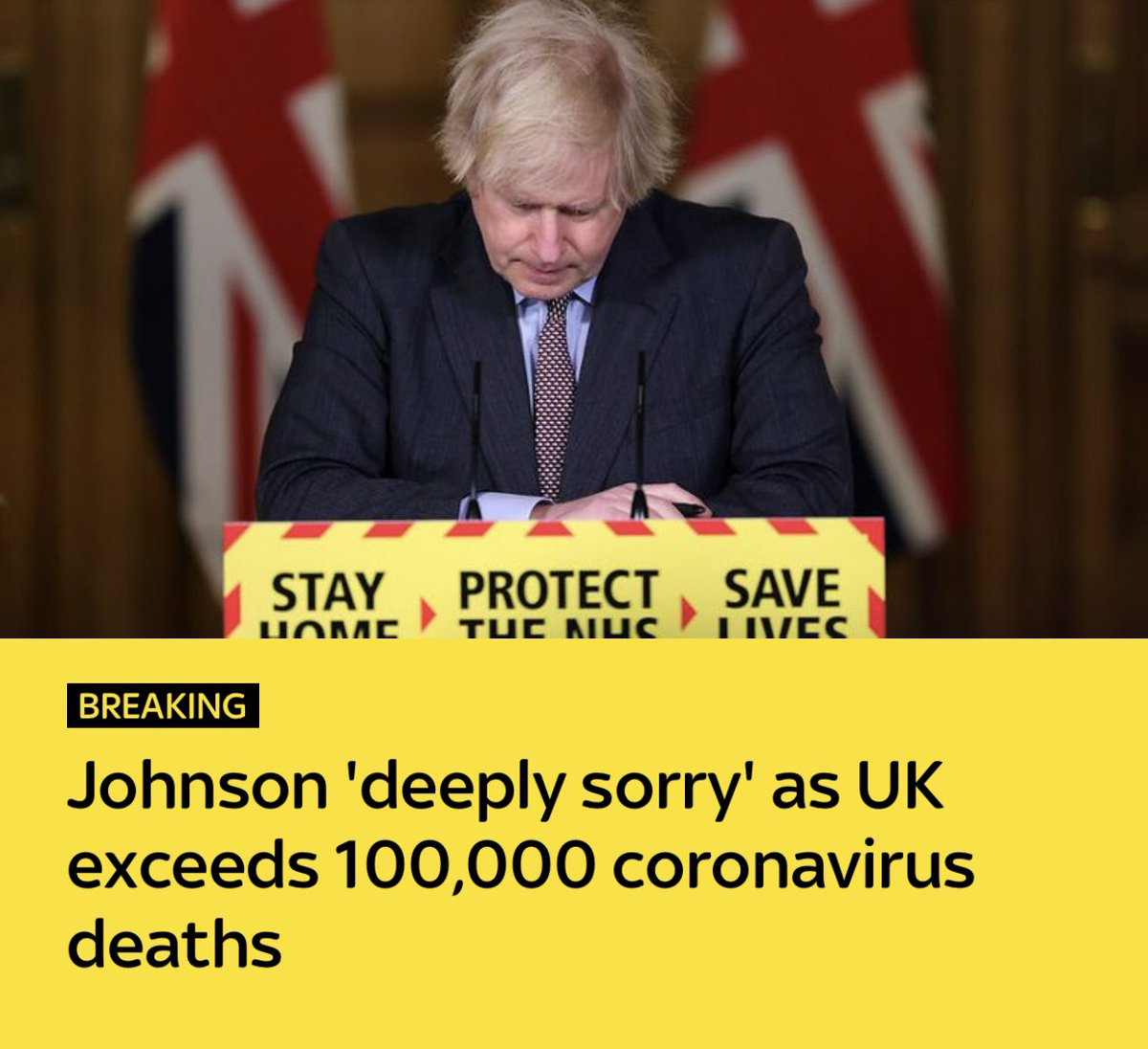 """Deeply sorry but takes no responsibility for 100,000 deaths and says """"we did everything that we could to minimise suffering and minimise loss of life"""" Johnson admits no error, nothing could have been done differently. Shameless."""