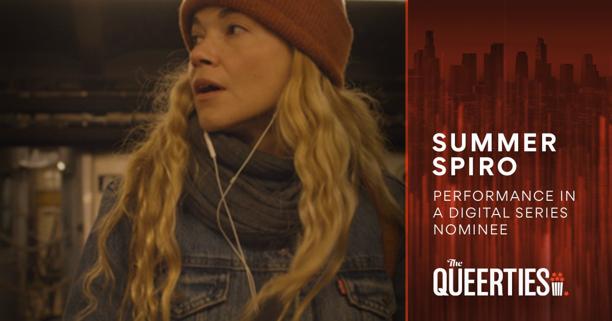 The #Queerties are here! Congratulations to #SummerSpiro, PERFORMANCE – DIGITAL SERIES nominee for #Platonic. Vote for all your #LGBTQ favorites once a day, per device, until voting closes on February 16th. Happy voting! 🏆