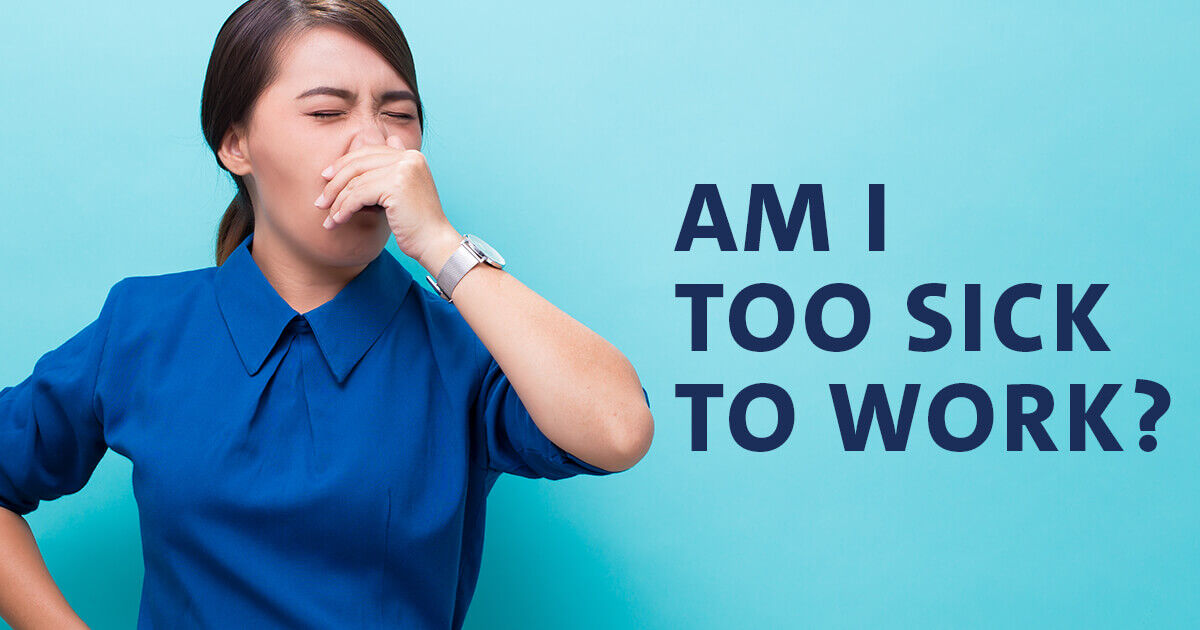 """Got Snot? 🦠 Keep it to yourself! If you're not sure when or how to make the call to stay home and rest, this """"Am I Too Sick To Work"""" guide on the OhioHealth blog can help. https://t.co/Yn3CPqyZWV https://t.co/kKAfYzMmeJ"""