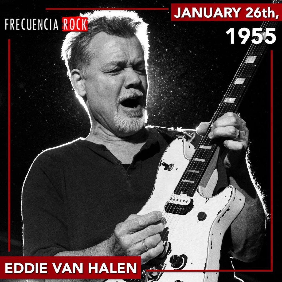 Today would have been Eddie Van Halen's 66th Birthday!🎸 • • • #eddievanhalen #vanhalen #frecuenciarock #felizcumpleaños #happybirthday #undiacomohoy #rockstar #musichistory #efemerides #rocknroll #music #icon #legend #onthisday #artist #musicfacts #bornonthisday #rip #guitar