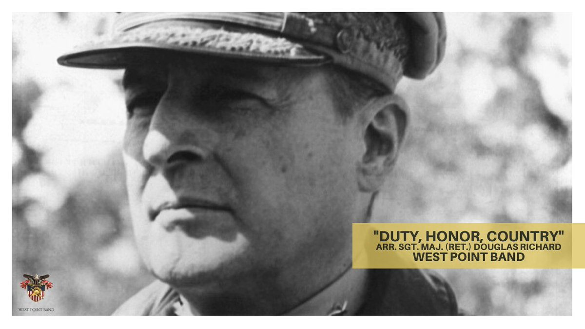 """#OTD in 1880, Gen. Douglas MacArthur was born  MacArthur gave his famous """"Duty, Honor, Country"""" speech to the Corps in 1962—it has inspired & motivated cadets & """"Old Grads"""" alike ever since  Watch our multimedia feature of the speech set to original music:"""