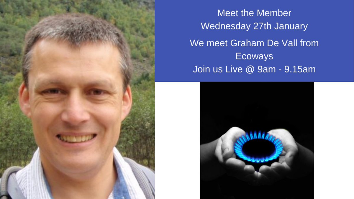 We are #live with Meet the Member Wednesday 27th January at 9am.  Thrilled to be inviting our hub member @GrahamdeVall to the studio and #sunshine #office #community #businessdirectory #Wednesdayvibe #Wednesday #savemoney #energy #bills
