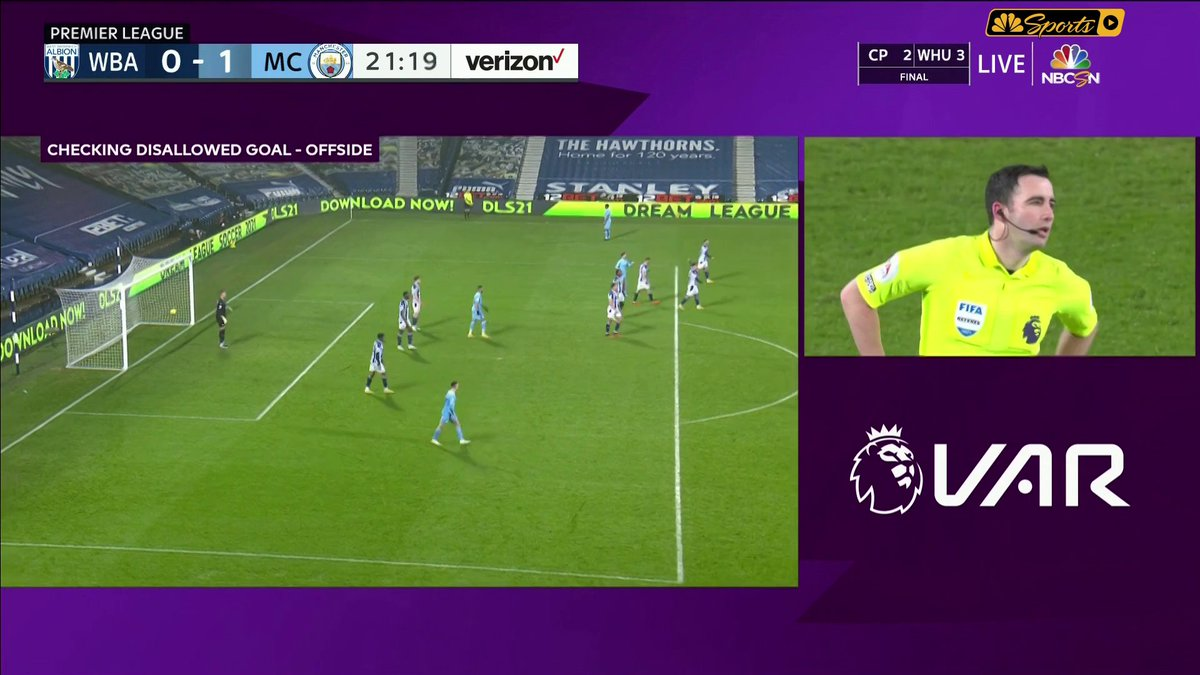 Replying to @NBCSportsSoccer: VAR says City's second goal stands!   2-0 to Manchester City! #WBAMCI