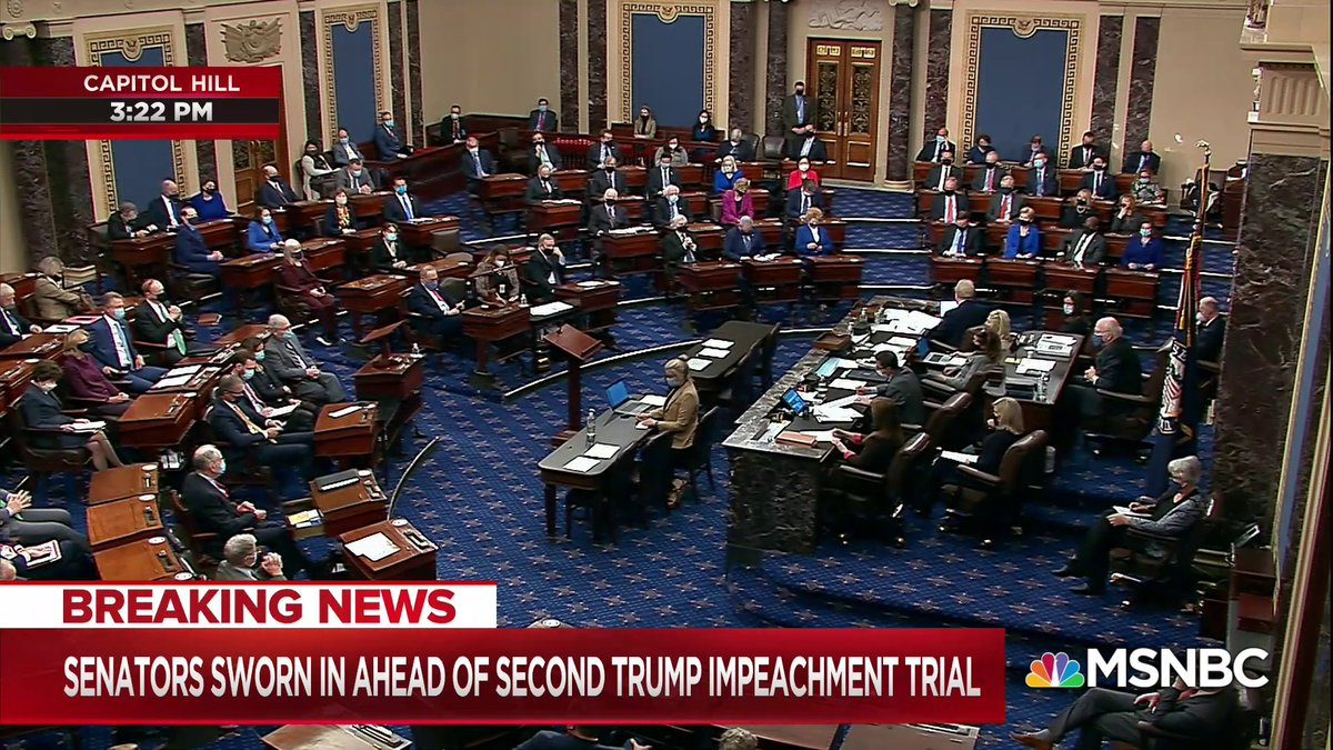 The Senate has rejected Sen. Rand Paul's attempt to declare that former Pres. Trump's impeachment trial is unconstitutional, 55-45. The 5 senators who voted to proceed with the trial were Sens. Collins, Murkowski, Romney, Sasse, and Toomey. https://t.co/8kQUei8YJF