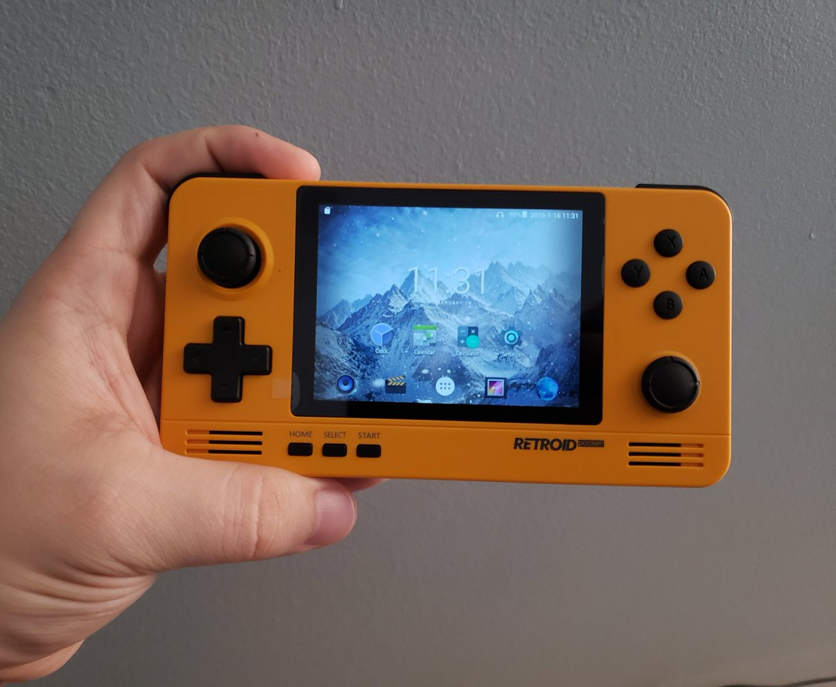 AnthonyCSN - Look at this little guy I've been waiting weeks for it to get here!!!  It's the Retroid 2, haven't played anything on it yet but can't wait to get it set up!!! #Retroid