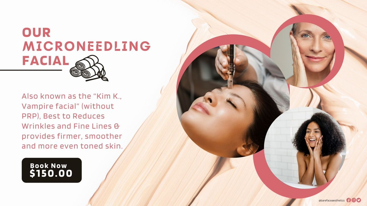 Reduce wrinkles with our Micro-needling facial! #facial #wrinkles #skincare #skincareroutine #makeup #westpalmbeach #salon #salonservices #products #barefacedbeauty #skincaretips #facialtreatment #hydration #absorbtion #facialtype #skintypes