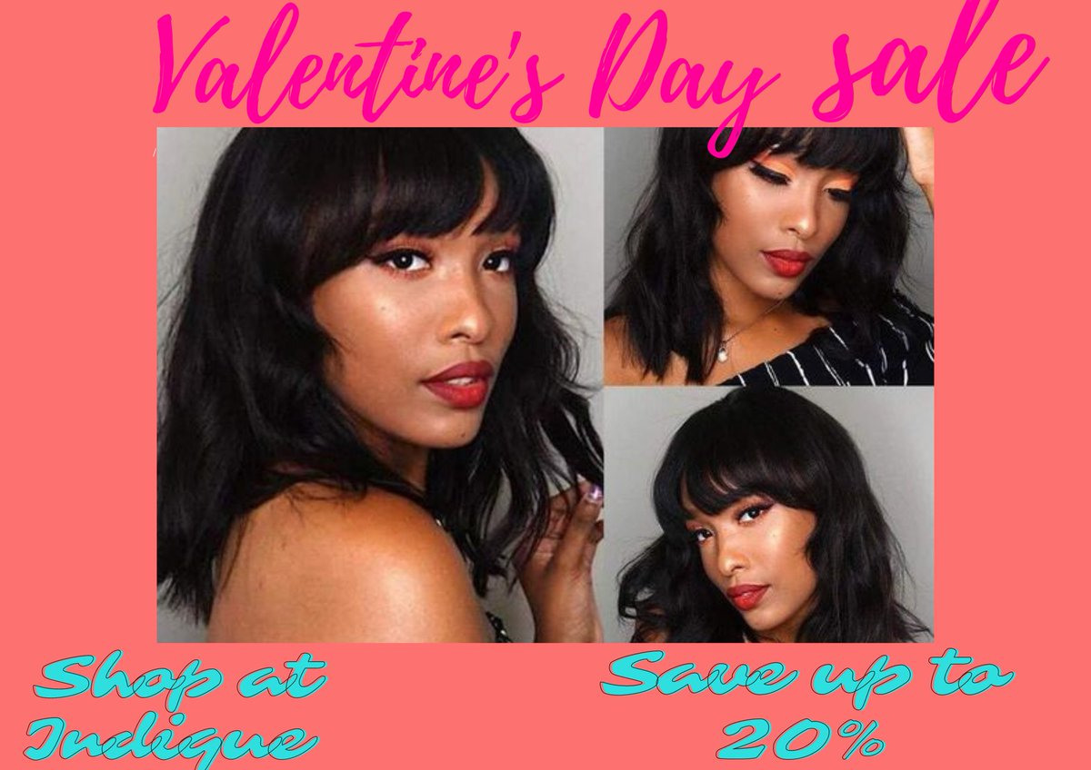 The season of love is upon us, are you excited? 😍❤ Indique Hair is going to have a Valentine week Sale | Register Now For Early Access:  #indiquehair #indiquehairsale #iloveindiquehair #hair #hairstyle #valentinesdaygifts #valentinesdaysale