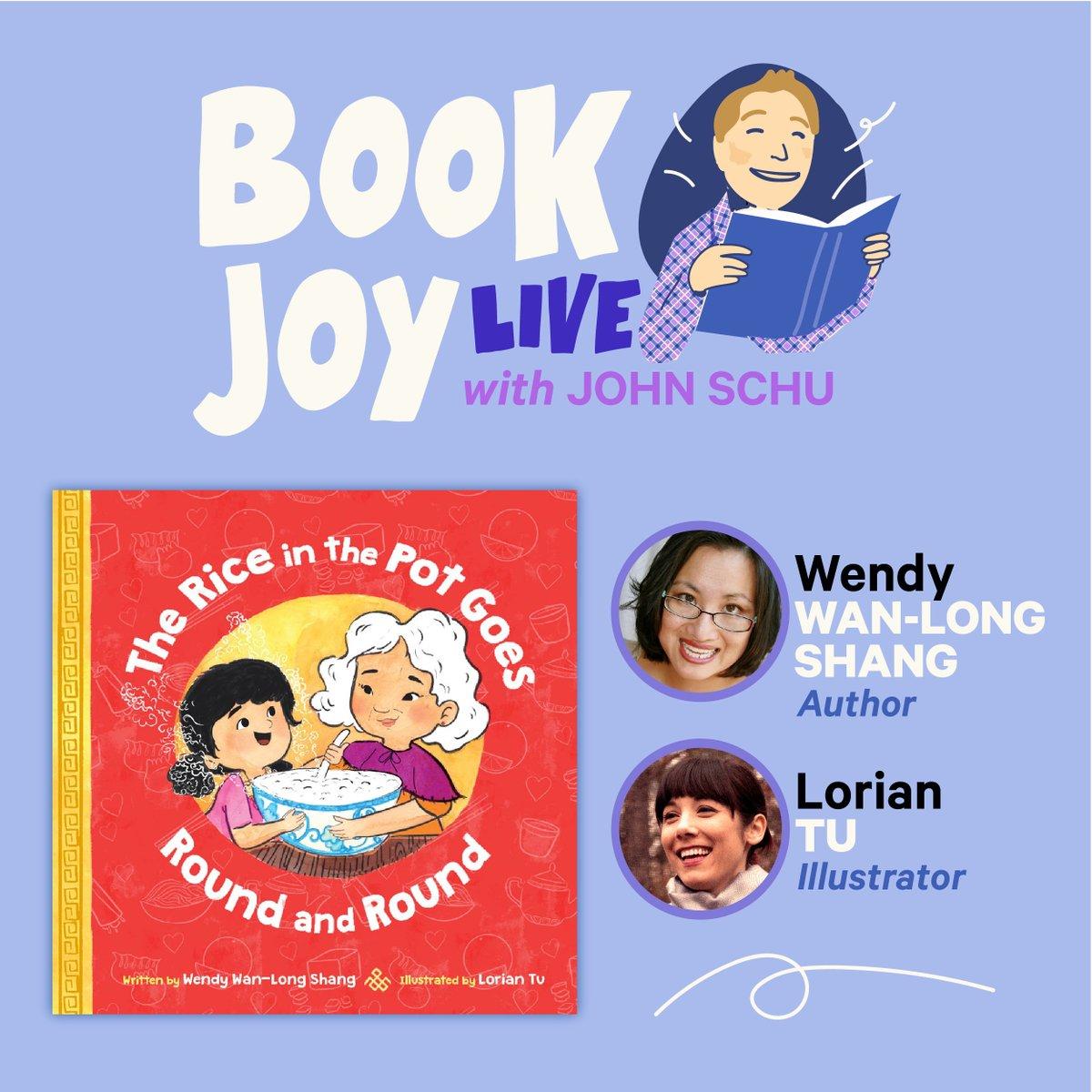 Book Joy Live with @WendyShang and @LorianTuBooks is on Thursday at 4:00 PM EST: mrschureads.blogspot.com/2021/01/book-j…