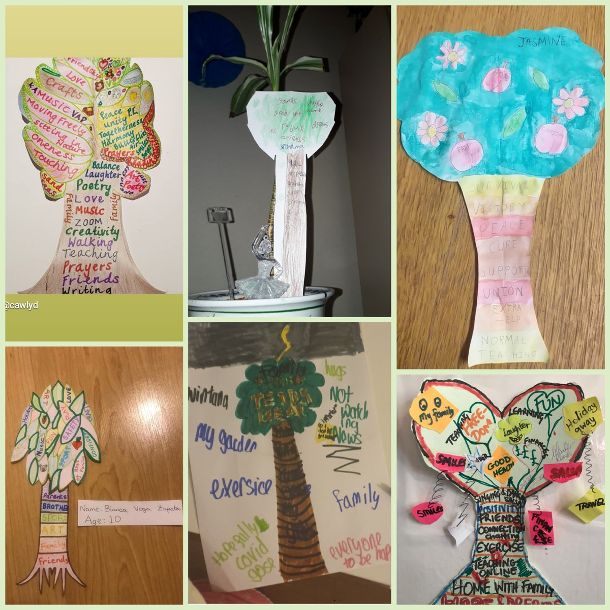 #TreeOfHope by 8-60+ yr old participants from #KamitanArts #VAPArt Online session. We invite the whole family 2 warmly join us 2MORO with Zita Holbourne -Resident Art tutor! @BARACUK WED 6pm -⚡Plse Register: tinyurl.com/VAPArtWED2021 @peoplesbiz @TNLComFund