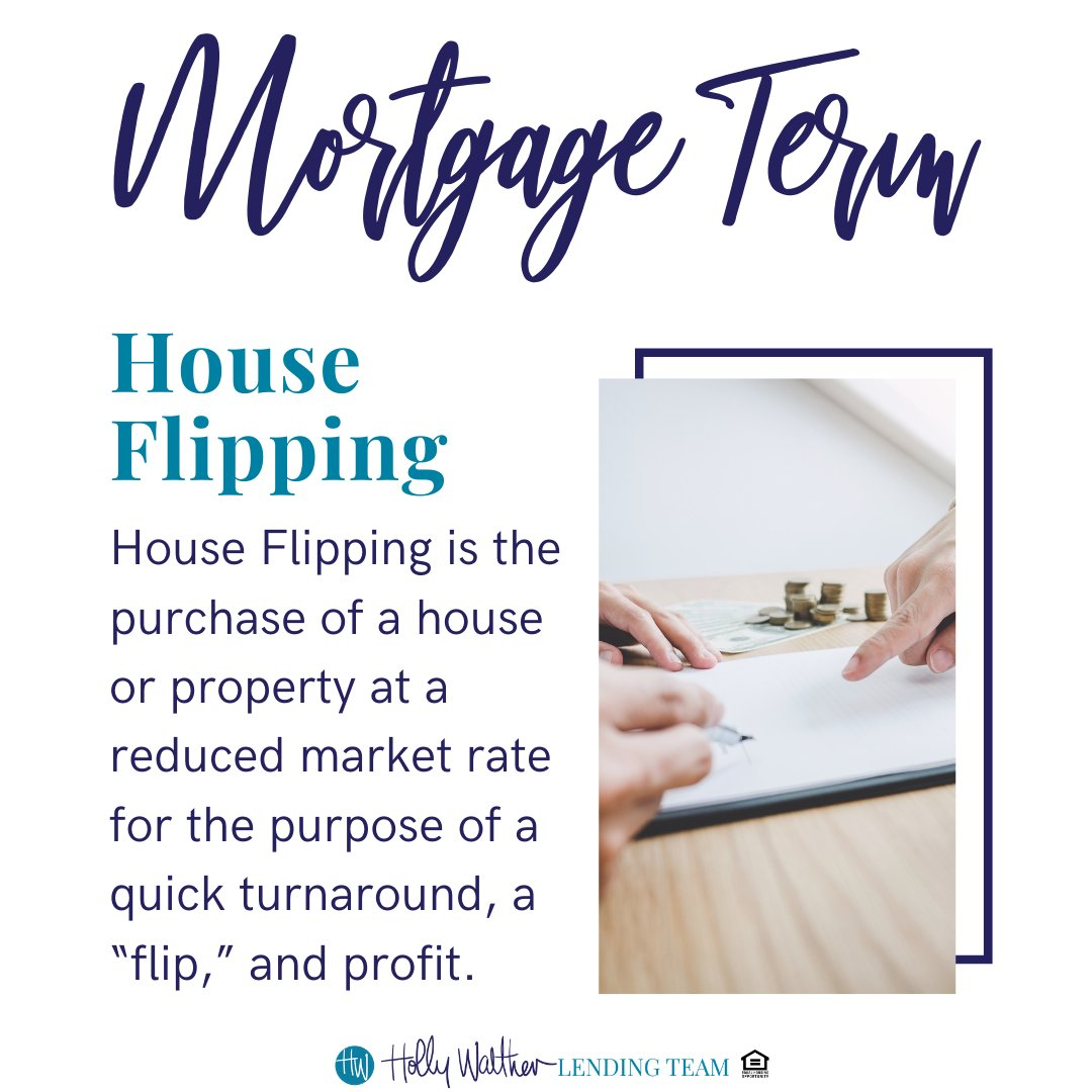Most house flippers must do some renovation or home fix-up in order to turn a profit on a home.  #lender #realtor #home #house #homesweethome #houseflipping #reno #renovation #fixerupper #mortgageterm #mortgageterms #bossbabe #bosslady #bosslife #TheHollyWaltherLendingTeam