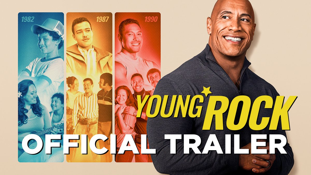 Our 1st official trailer for @NBC's #YoungRock.   Humbly shaking my head at the wild Forrest Gump-ish life I've lived.  And man the lessons I learned along the way from loved ones who now walk in the clouds.   Look forward to making ya laugh & maybe a little bit more.   FEB 16th!