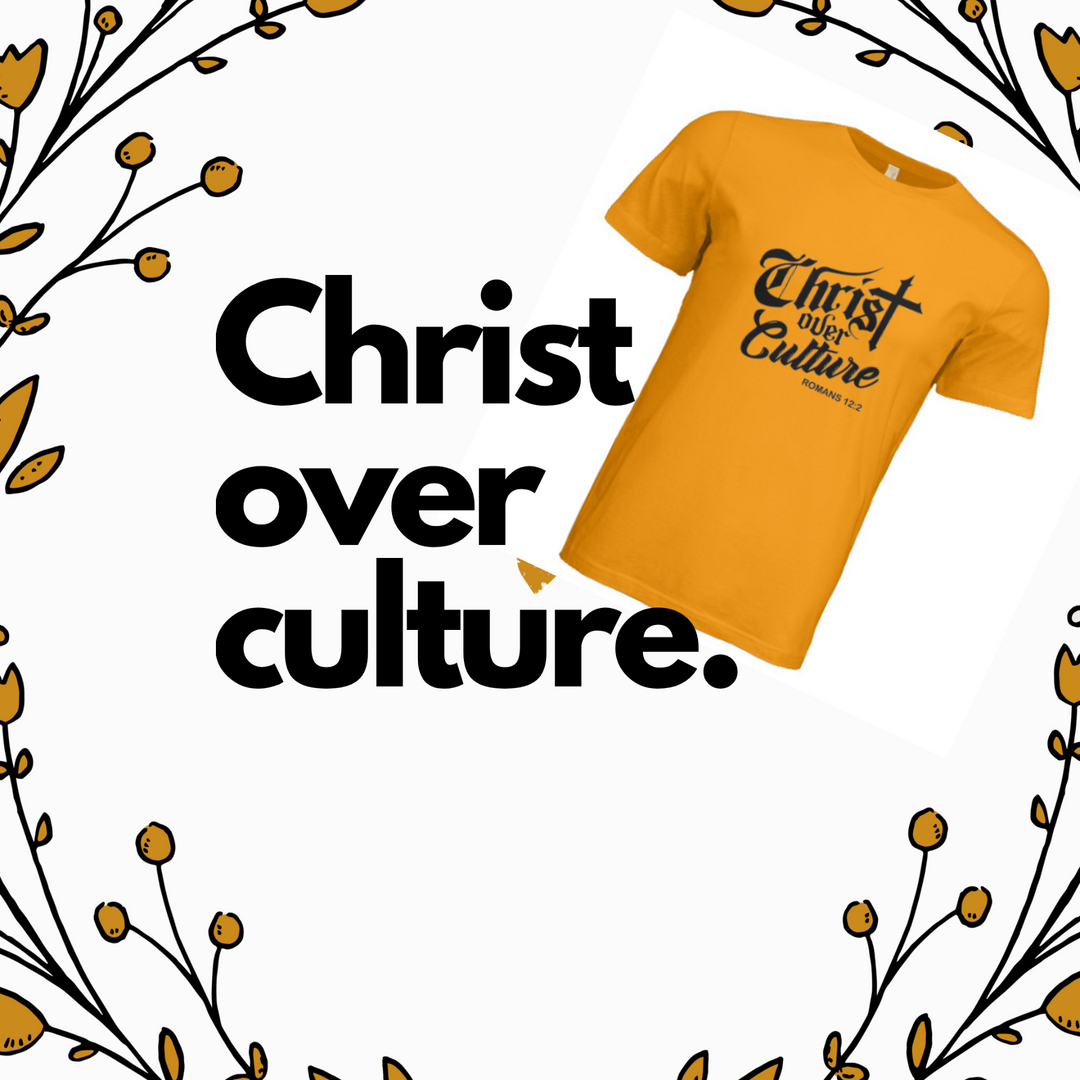 """Buzz words like """"Do it for the Culture"""" sound nice, but should it be the basis for how you live your life? Be proud of who you live for and show it with our Christ Over Culture Tee.  Link in Bio for all orders. #christian #blackbusiness #marriage #mentalhealth #love #ChristOverCu"""