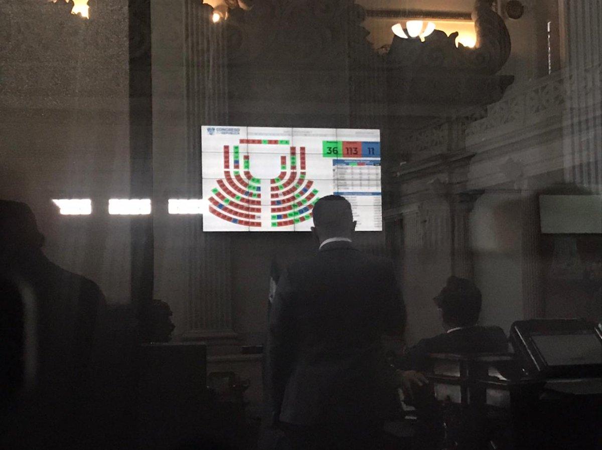 test Twitter Media - El Congreso aún no inicia con la sesión programada para este martes a las 14:00 horas, hasta el momento el tablero electrónico marca la asistencia de 36 diputados.Foto: José Castro https://t.co/LchGaYqGus