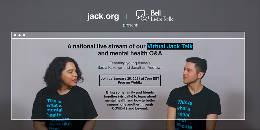 Dont forget to join @jackdotorg at 7pm ET for a Virtual National Jack Talk and live Q&A. Register here: ow.ly/OBOh50Diz4w #BellLetsTalk