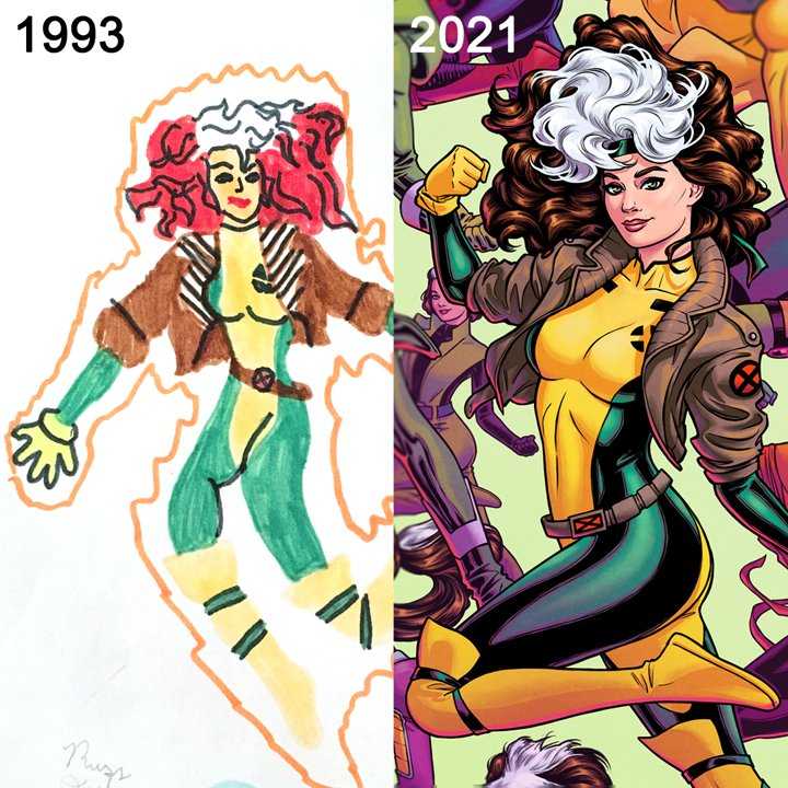 28 years of drawing Rogue, sugah! ❌