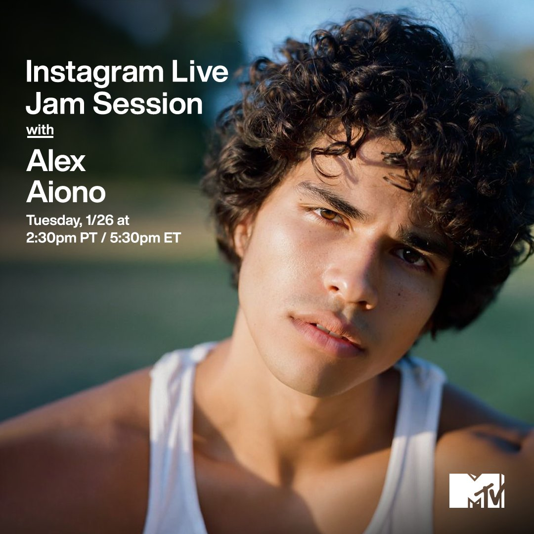 My plans today include:  ✔️ Joining @alexaiono for his #MTVJamSession at 2:30p PT / 5:30p ET on MTV's IG Live! ✔️ Literally nothing else.