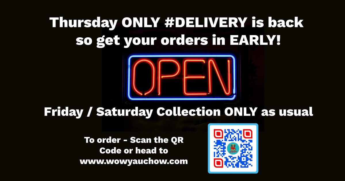 #Delivery #Thursday ONLY! We will be delivering ourselves again this Thursday, but with no plans to extend to any other day. So for those who just cannot collect your #TakeOut from us - we hope this helps! ❤️🙌🏻✊🏻 Order now by clicking here:  #Manchester