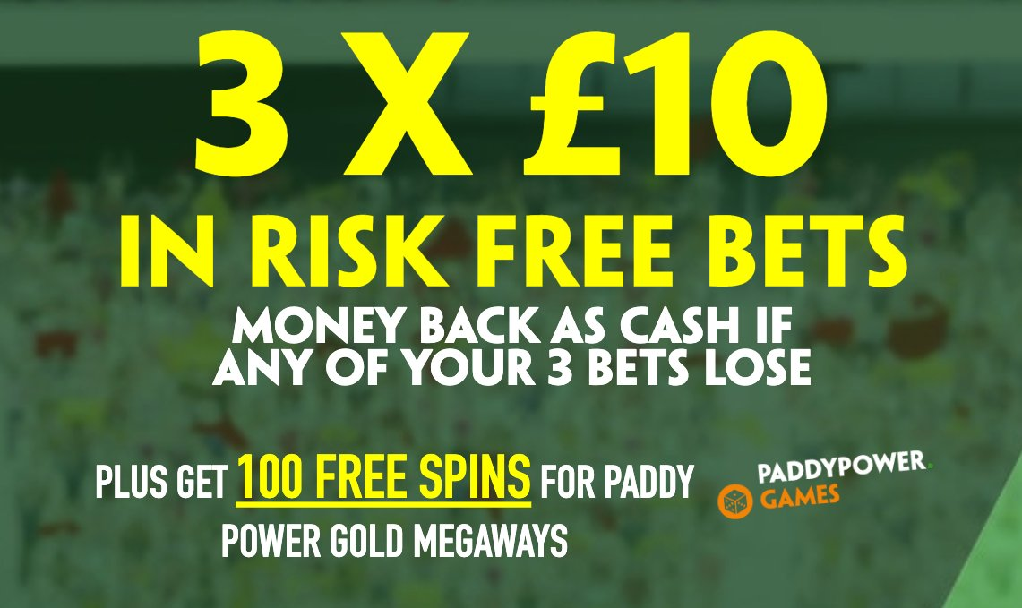 GET A £10 RISK FREE BET FOR THREE GAMES OF YOUR CHOICE! 🙌  Sign up here to claim:  👈  Money back in WITHDRAWABLE CASH if your bet loses! 😍  🔞 | New customer offer | T&Cs apply |  | #Ad