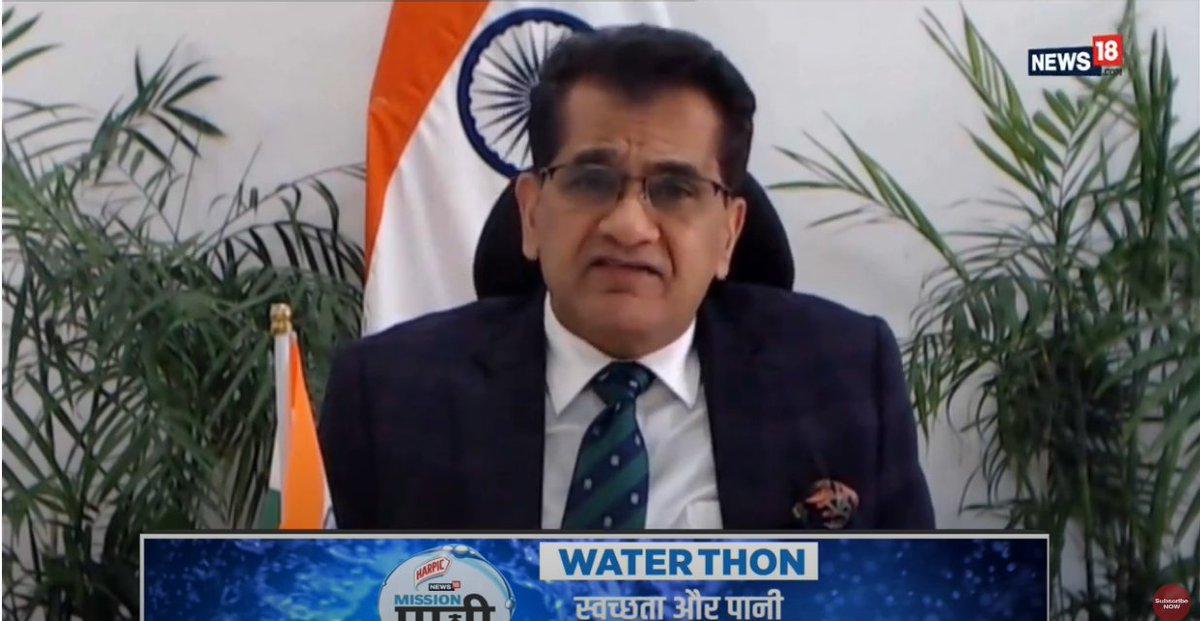 @harpic_india @authoramish @vijayrupanibjp @Network18Group @AmitShah @myogiadityanath @PiyushGoyal Failure of water management in the country is a challenge.  There's a need for better water use efficiency across sectors among other needs:  NITI Aayog's Amitabh Kant ( @amitabhk87 ) #MissionPaani @harpic_india #MeriJalPratigya