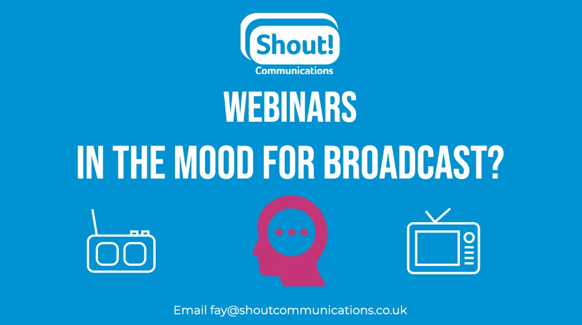 It's not too late to sign up for our free #broadcast PR workshop, In the Mood For Broadcast, this Thursday 1630.   More details on our website: https://t.co/LUFSK65Gbp #broadcastPR  #workshop   #PR https://t.co/dfMfQsxDyK