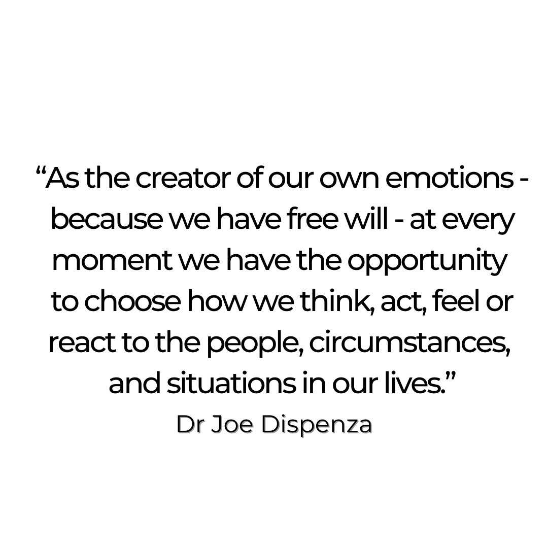 As human beings, emotions are one of the most powerful tools and resources of creation that we possess. This means that, as the creator of our own emotions—because we are endowed with free will—at every moment we have the opportunity to choose how we think, act, and how we feel.