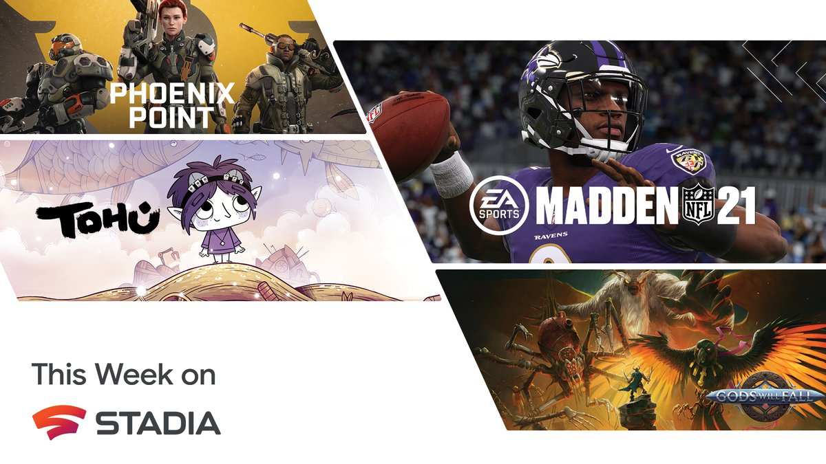 Madden NFL 21 is headed to Stadia, new games arrive in the Stadia store, and February's Stadia Pro games are revealed.   Check out our blog for all the details: