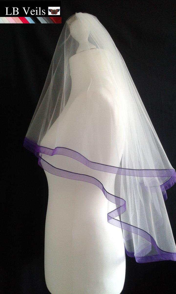 We Have Purple  💕🍾 Wedding Veils 🌈 Any Length ❤️          #weddings #Purple #cadbury #veil #BrexitBritain #uk #snow #NewYorkCity #California #TeamGodzilla #LoveStory #hope #Wednesdayvibe #handmade #etsyshop #etsyuk #ebayfinds