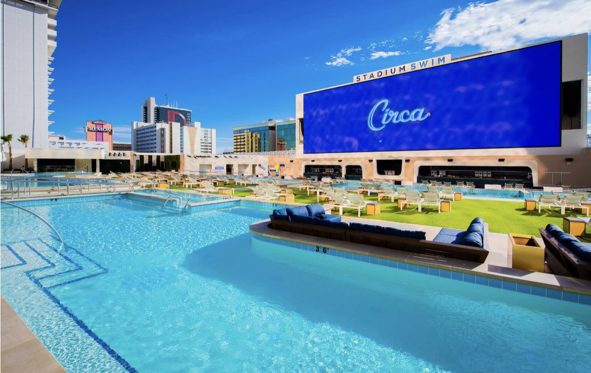 The @CircaLasVegas has released their price list for the Stadium Swim area in their hotel for Super Bowl LV, starting at $175 per lounge chair.