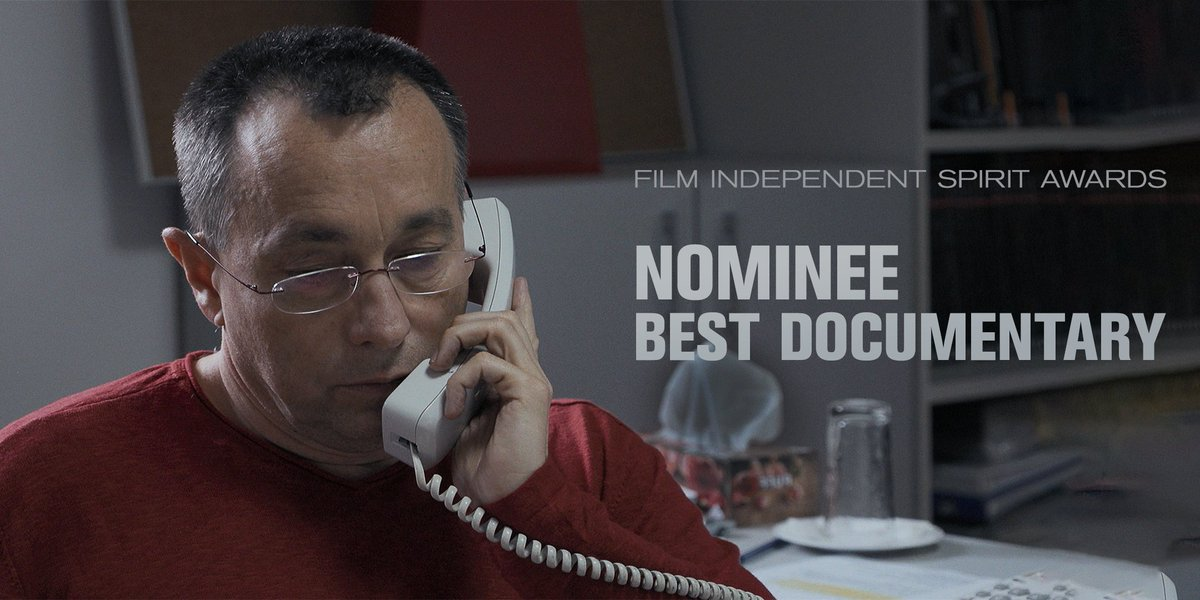 Replying to @Collectivemovie: We're thrilled to be nominated for Best Documentary by the @filmindependent #SpiritAwards!