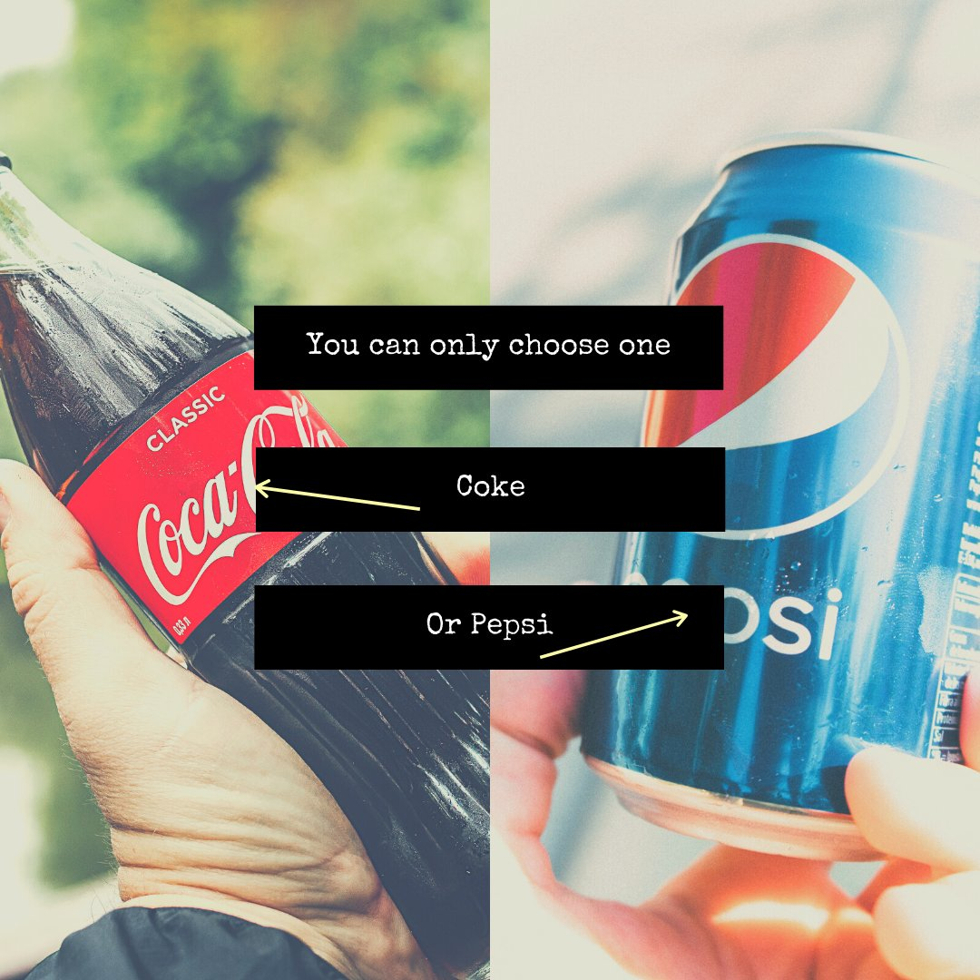 You can only choose one... Coke, or Pepsi?!  #cokeorpepsi #coke #pepsi #soda #drinks