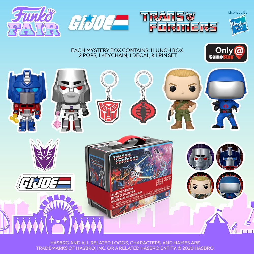 Funko Fair 2021: Transformers Vs GI Joe mystery box (@GameStop exclusive). Who's side are you on? Pre-order is available now!  #FunkoFair #Funko #FunkoPop