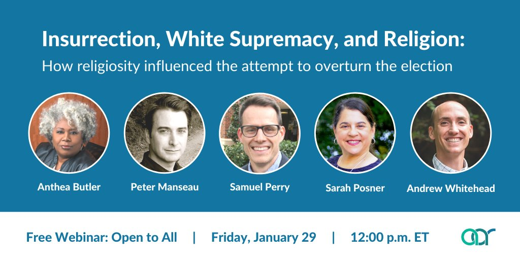 FREE event! And fits in w/at least 2 of the interlocking injustices(systemic racism + distorted moral narrative of religious nationalism) that the #PoorPeoplesCampaign challenges + fights back against!!  #Insurrection #WhiteSupremacy #Religion