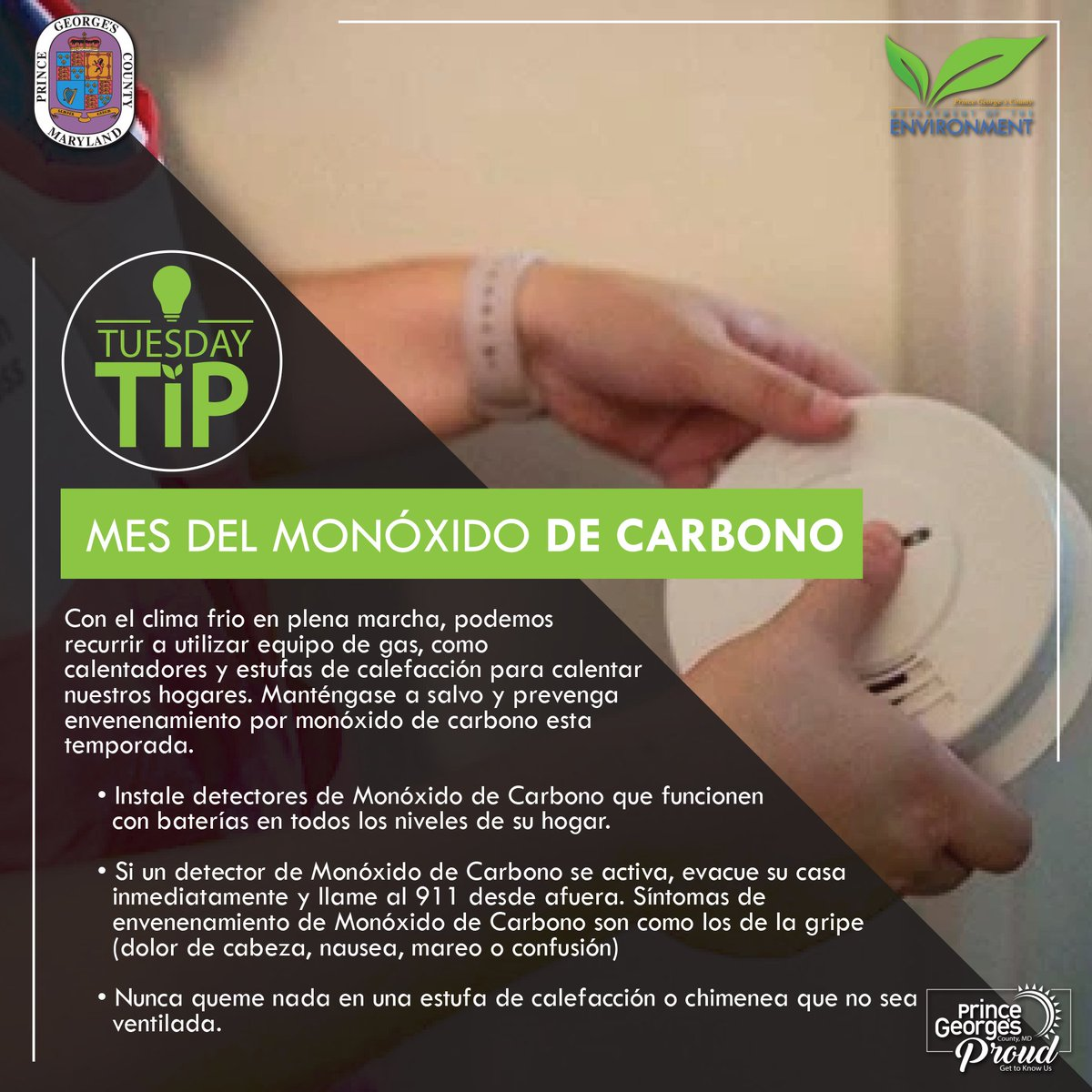 An important #TuesdayTip from our Department of the Environment.   Un consejo importante de nuestro Departamento de Medio Ambiente.