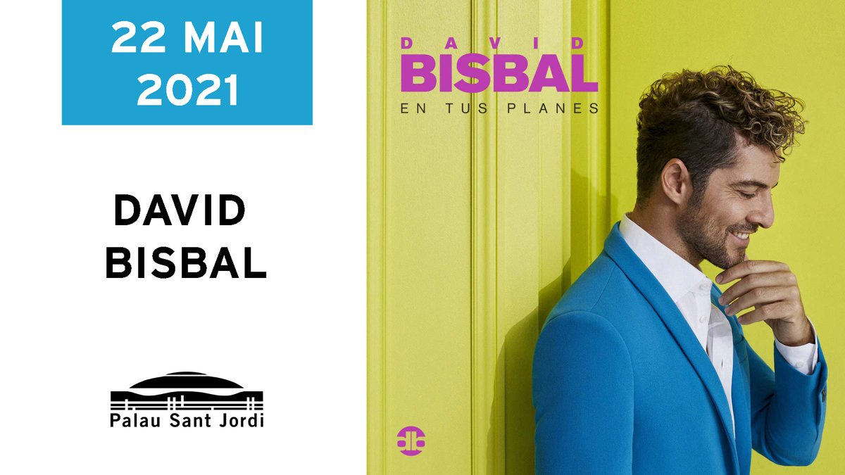 Esperamos que el concierto de @davidbisbal esté ¨en tus planes¨🎯, 22 de mayo de 2021 en el Palau Sant Jordi de Barcelona. 🎫Entradas en @elcorteingles