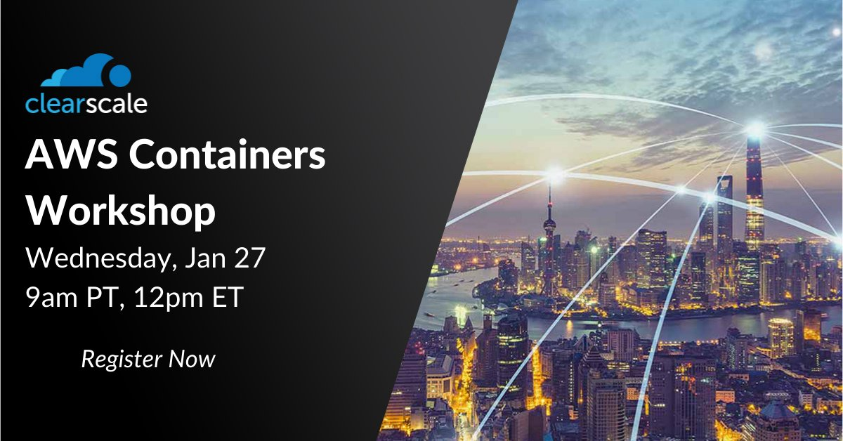 It's not too late to register for our interactive workshop on #containers tomorrow. Follow along with #AWS and ClearScale in this 3 hour, hands-on training session, and take part in the setup and deployment of containers on AWS! https://t.co/K9TfiY58Aw #Docker #Fargate #ECS #EKS https://t.co/9bgQqKXYfO
