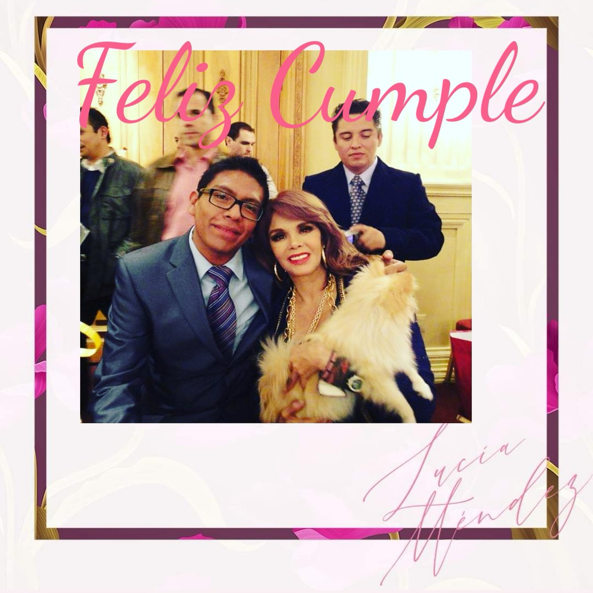 Te amamos Méndez #felizcumple @TeamLuciaMendez