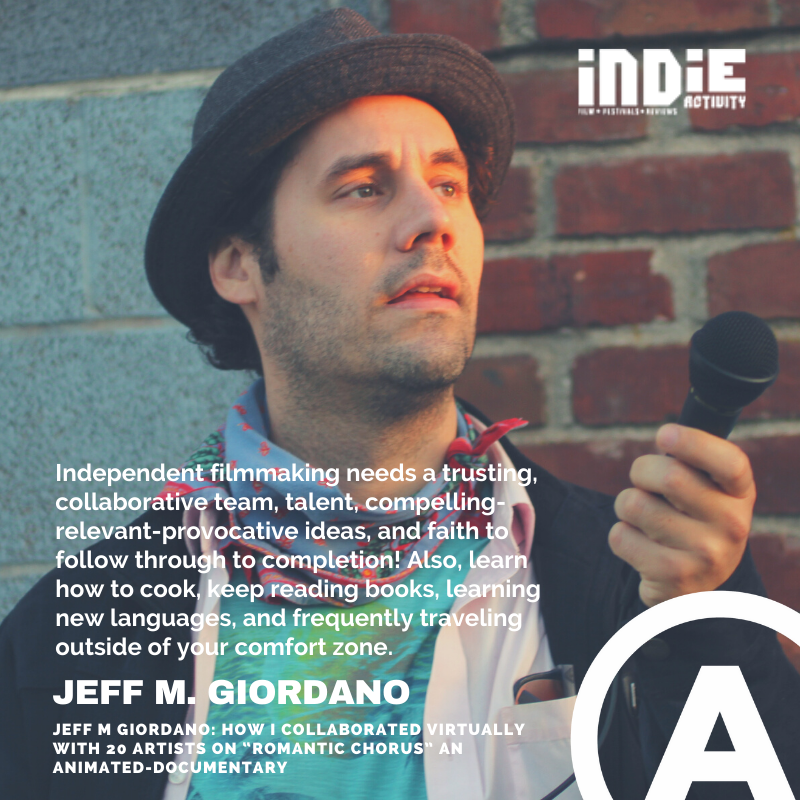 """.@filmindependent RT Jeff M Giordano: How I Collaborated Virtually with 20 Artists on """"Romantic Chorus"""" an Animated-Documentary -https://t.co/LKiWzWCK20 #indie #indiefilm #indieactivity #supportindiefilm #womeninfilm #womeninmedia #filmmaking #filmmaker #filmmakers #thankful https://t.co/tw1BJFkhK7"""