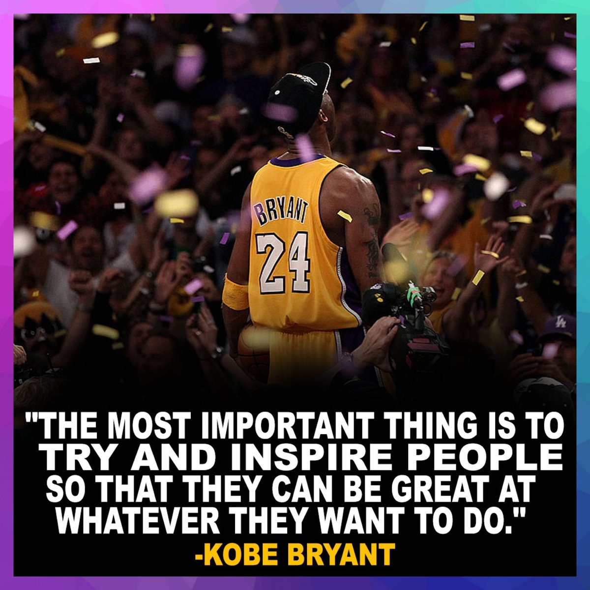 Rest In Paradise #KobeBryant 💜💛 a tribute to #Kobe will be playing at 9:45A PST.  . . .  Rest in peace to everyone involved in the tragedy Gianna Bryant, John, Keri and Alyssa Altobelli, Christina Mauser, Sarah and Payton Chester and Ara Zobayan 🙏