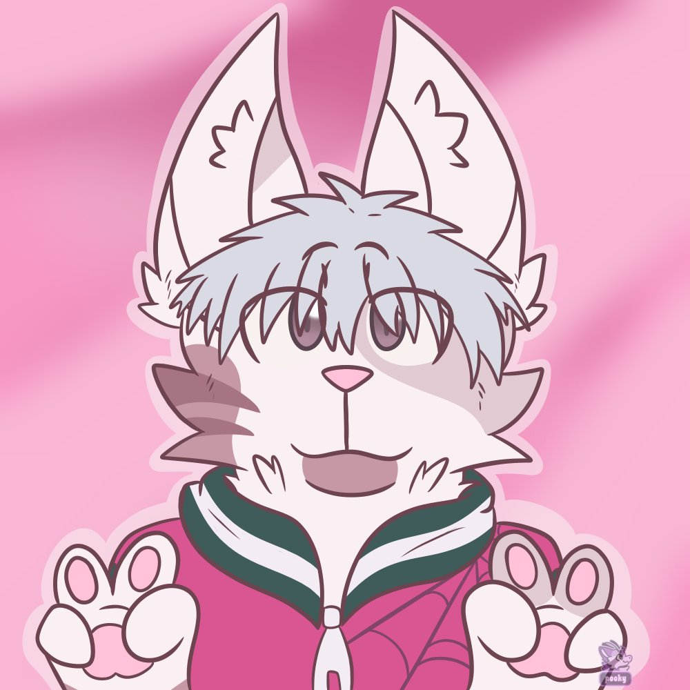 Another little headshot icon thing i did with my Shiki Kinsona (im prob gonna call him Shin) Trying to get use to draw paw hands