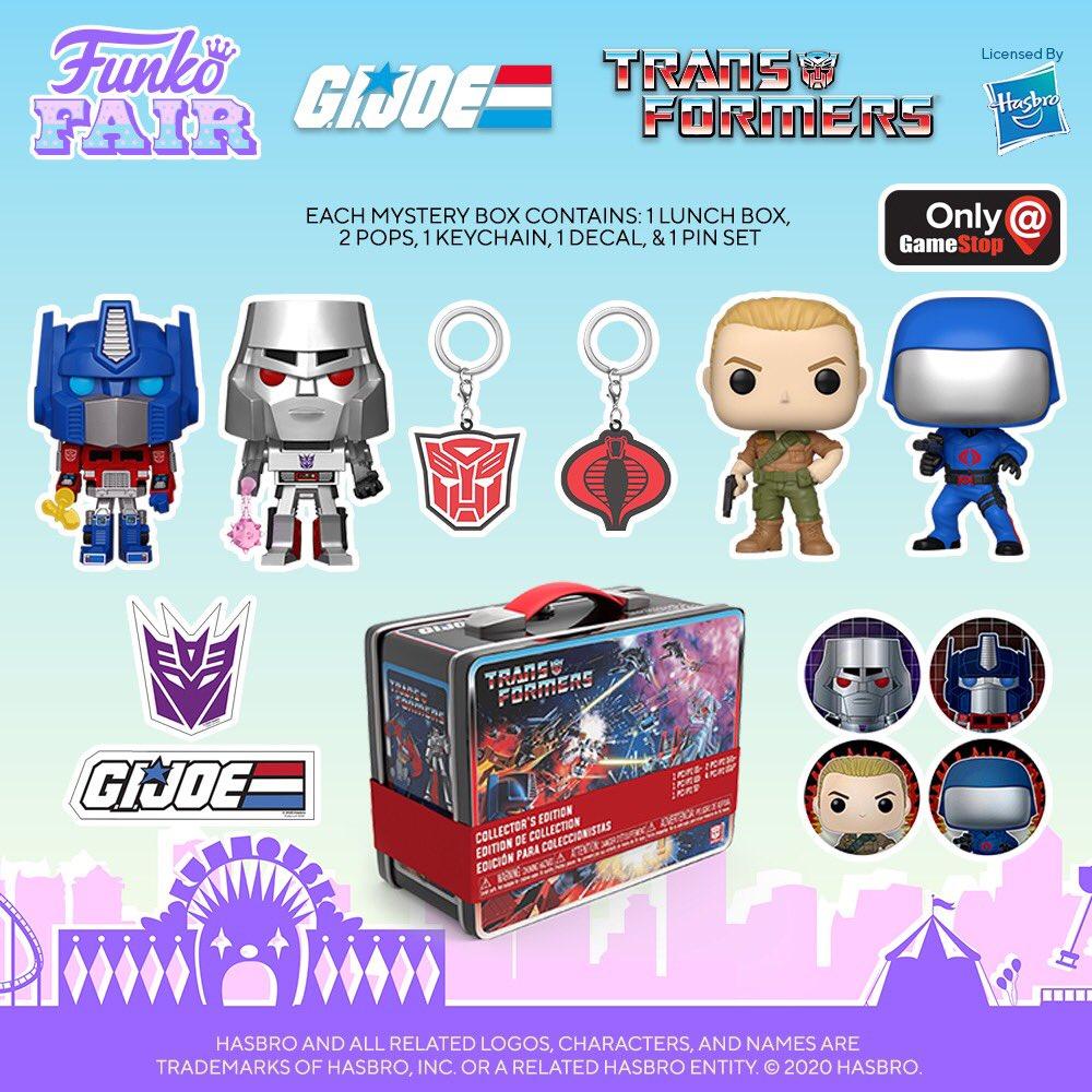 .@OriginalFunko Fair 2021: Transformers Vs GI Joe mystery box (@gamestop Exclusive). Who's side are you on? Pre-order is available now!    #Funko #GIJOE #FunkoFair #Transformers