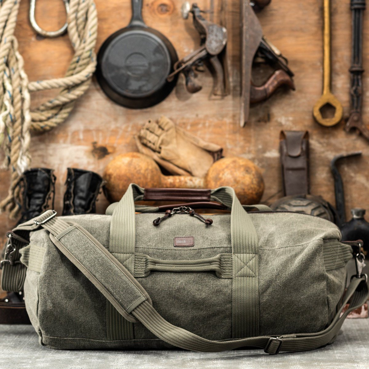 Love my ThinkTank camera bags, and now I see they're making a duffel.  Looks like it's as rugged as the camera stuff I love.   #ad