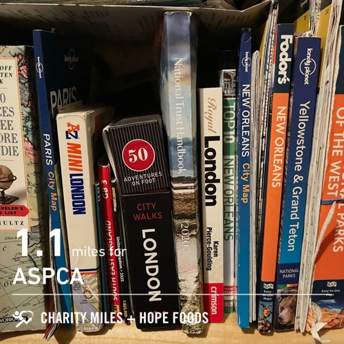 1.1 @CharityMiles for @TeamASPCA. Thx @HopeHummus #SpreadHope #HopeForTheDay #PlanForVacation Day #FiftyFans #MilesForTheMister