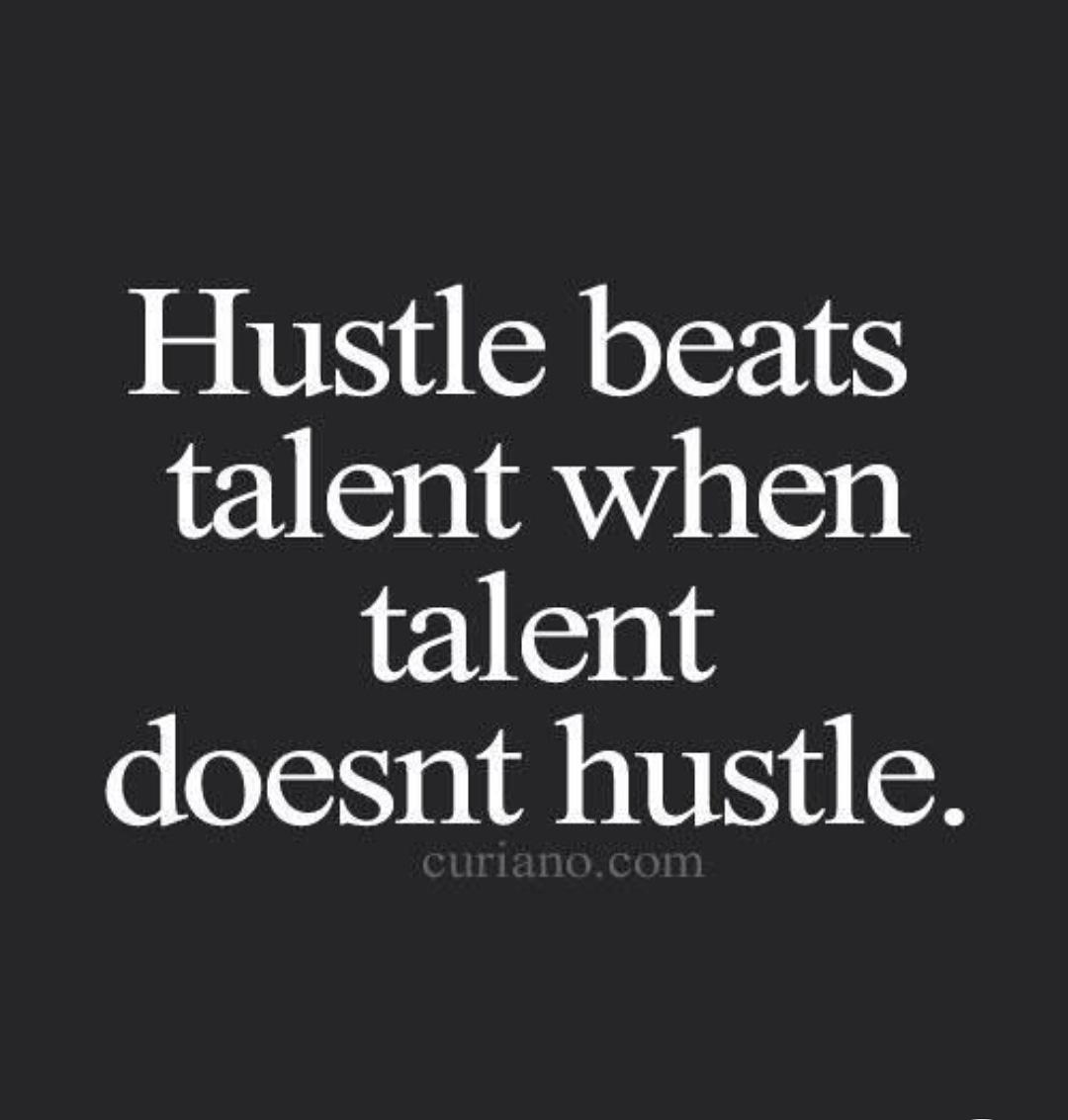 Hustle beats talent when talent doesn't hustle.  #chrisgurneeteam #exprealty #chrisgurneeteambrokeredbyexprealty #goal #success #positive #inspiration #inspirational #quote #motivation #motivational