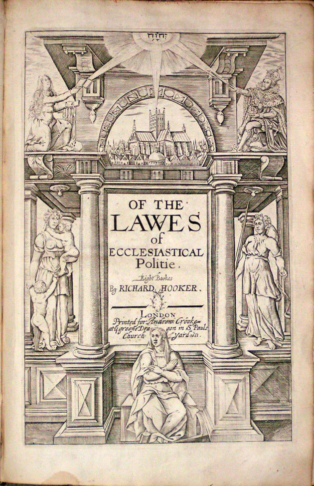 26 Jan 1593: Richard Hooker contracts with a printer for his Laws of Ecclesiastical Polity #otd - a major component of what would become an #Anglican tradition