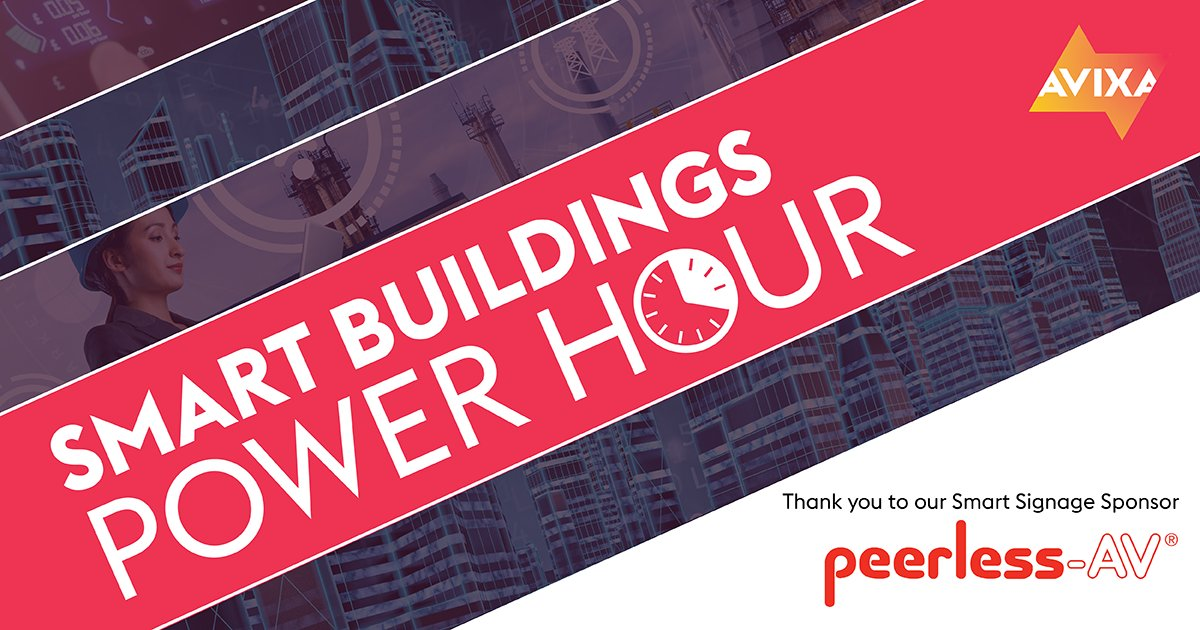 Register for tomorrow's Smart Buildings Power Hour ➡️ https://t.co/Sx754qcIxz   #AVTweeps #proAV #digitalsignage #DOOH #technology #innovation #webinar #AVIXA