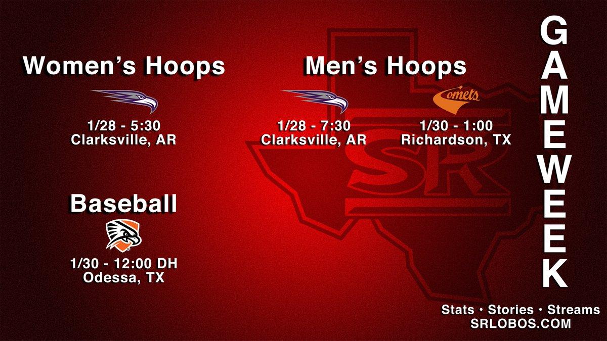 Take a look at what's on the sports docket this week.  #SRSU #ASChoops #d3hoops #ASCbsb #d3bsb