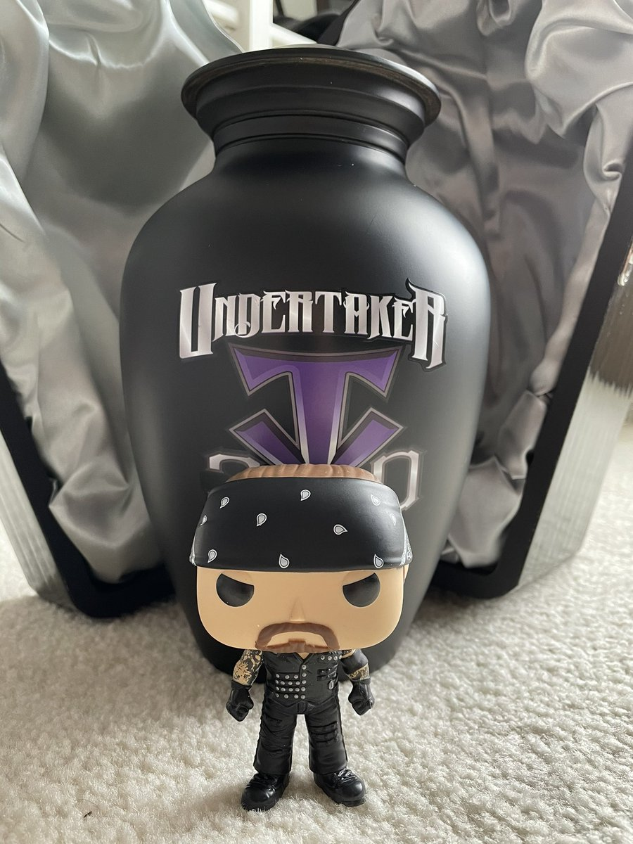 YESSS! Our @undertaker Boneyard Match @OriginalFunko Pop has arrived!!  #ThankYouTaker
